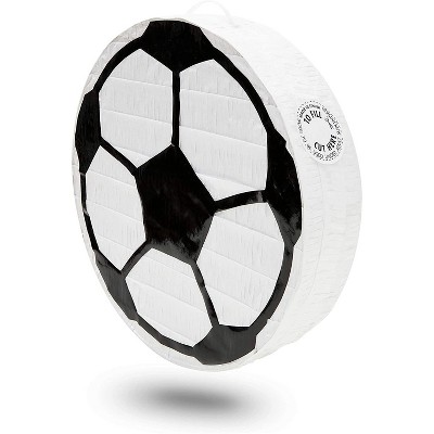 Soccer Ball Pinata for Kids Sports Theme Birthday Party Supplies and Decorations, Small 12.8 x 3 inches