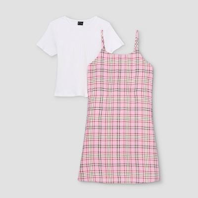 Girls' Slip Sleeveless Dress with T-Shirt - art class™