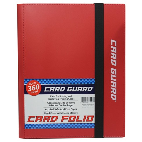 Acc Card Guard 9 Pocket Folio - Red - image 1 of 3