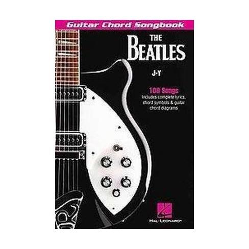 Beatles Guitar Chord Songbook J-Y : 100 Songs (Paperback) : Target