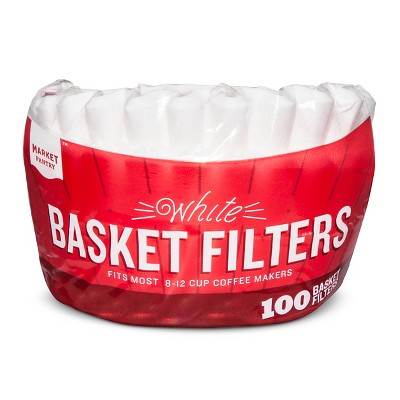 White Coffee Filters - 100ct - Market Pantry™