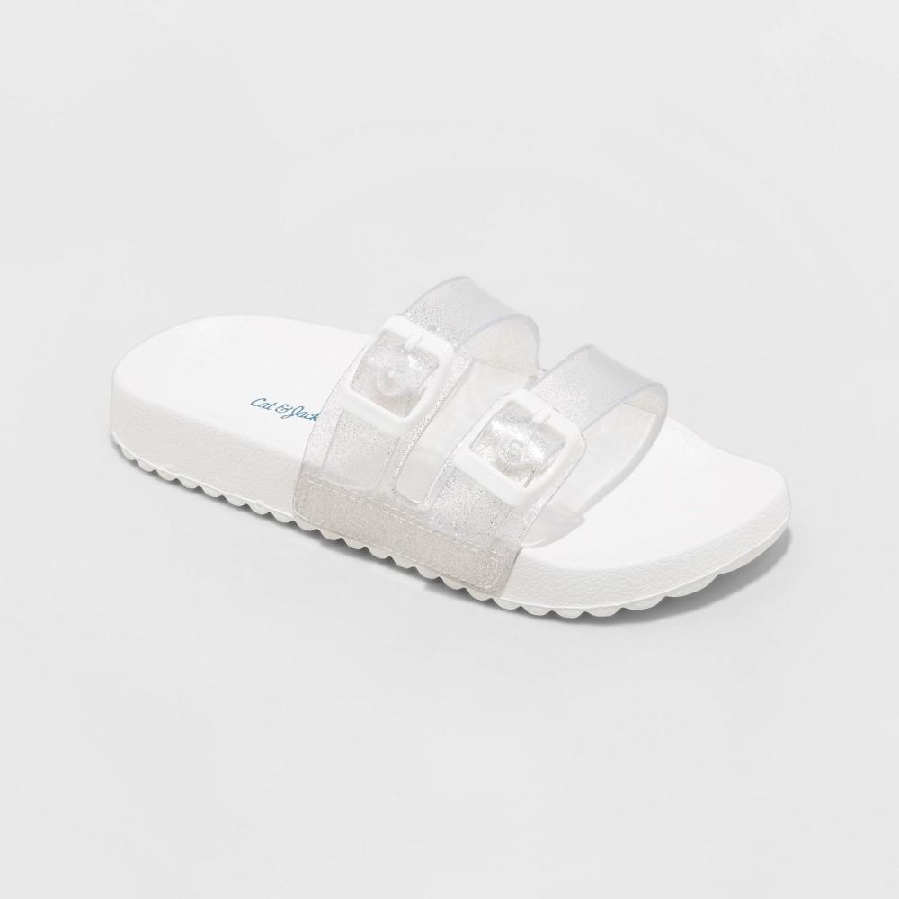Girls 39 Marlo Blown Eva Footbed Sandals Cat 38 Jack 8482 White 6