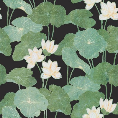RoomMates Lily Pads Peel & Stick Wallpaper Black/Green