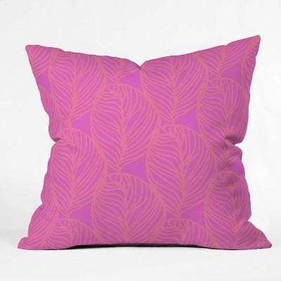 "16""x16"" Sunshine Canteen Petaluma Dayglo Throw Pillow Pink - society6"