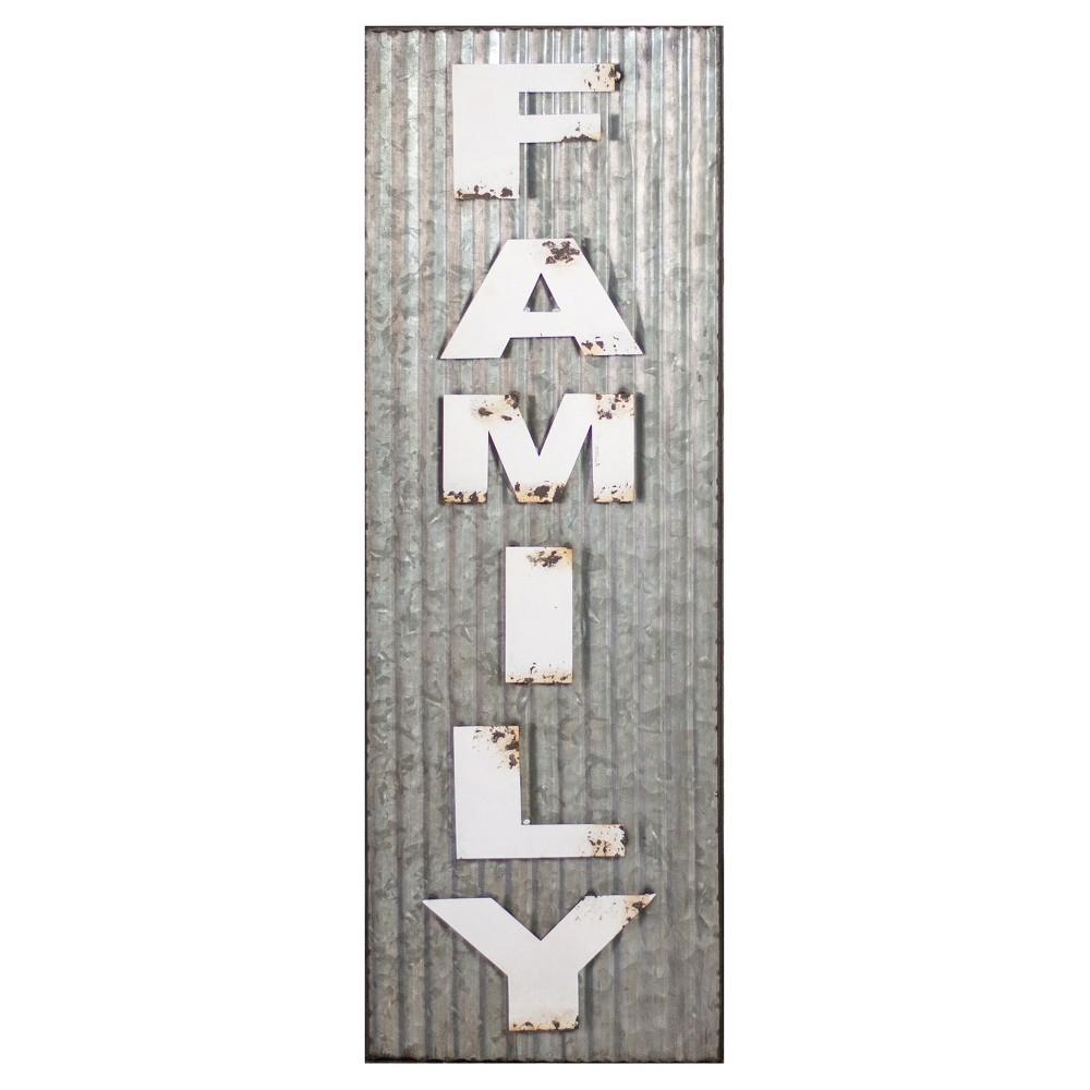 """Family Wall Décor  & Silver (11""""x33"""") - VIP Home & Garden"""