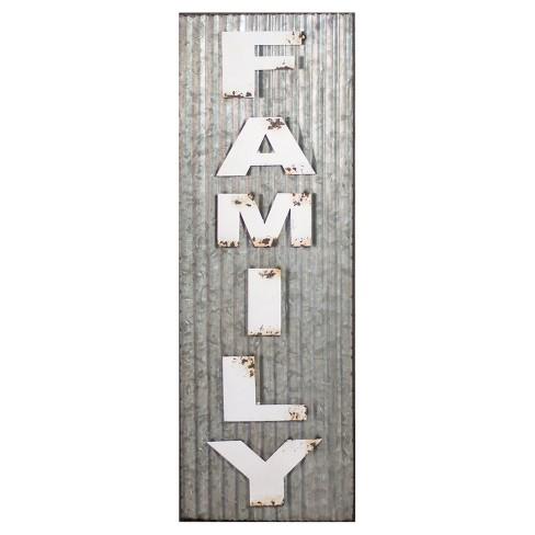 """Family Wall Dcor White & Silver (11""""x33"""") - VIP Home & Garden - image 1 of 3"""
