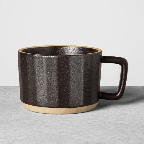 Stoneware Latte Mug Black - Hearth & Hand™ with Magnolia - image 1 of 4