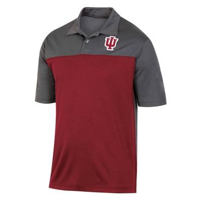 NCAA Indiana Hoosiers Men's Short Sleeve Polo Shirt