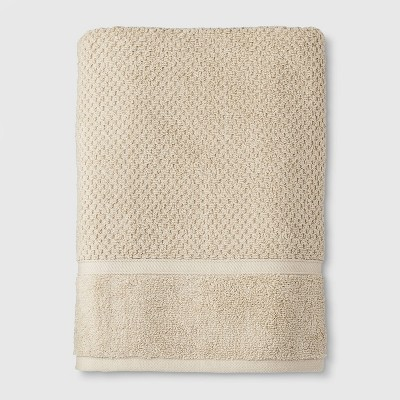 Performance Texture Bath Towel Tan - Threshold™