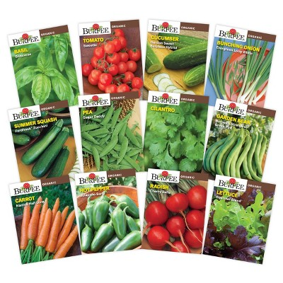 Burpee Organic Herb and Vegetable Garden Seed Collection - 12pk