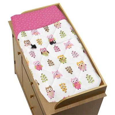 Sweet Jojo Designs Happy Owl Changing Pad Cover