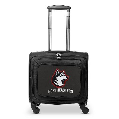 NCAA Northeastern Huskies Mojo Carry On Laptop Overnighter Spinner Wheels Suitcase