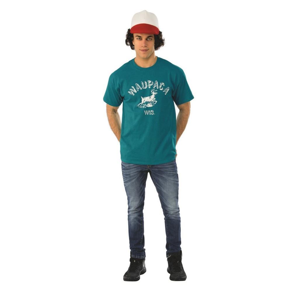 Men's Stranger Things Dustin Waupaca Shirt Halloween Costume L, Multicolored