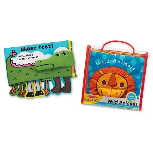 Melissa & Doug K's Kids Soft Activity Baby Book Set: Animals (Whose Feet? and Wild Animals) - image 1 of 4