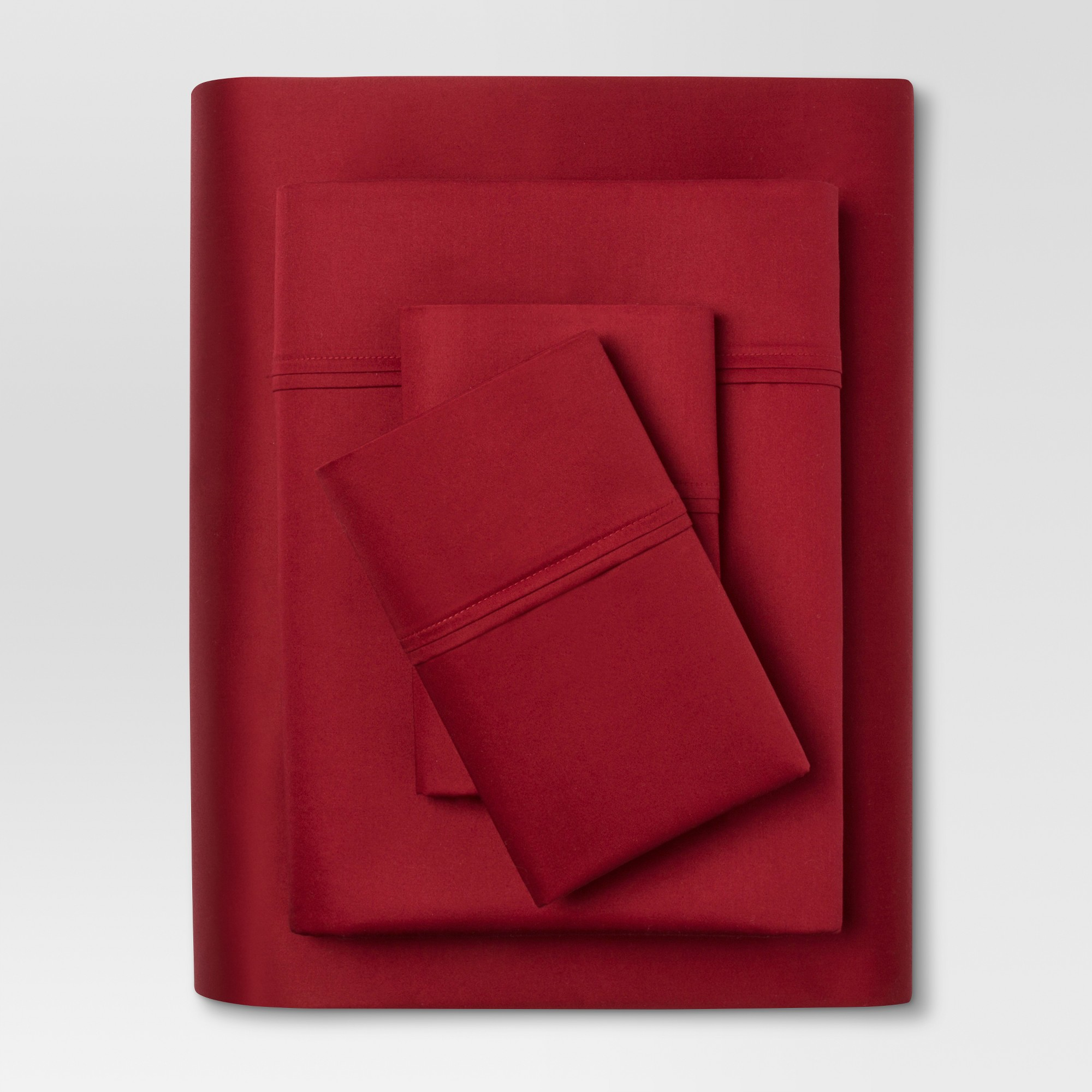 Performance Sheet Set (Twin) Red 400 Thread Count - Threshold