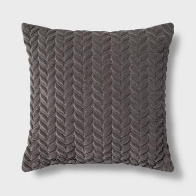 Decorative Square Throw Pillow Gray - Threshold™
