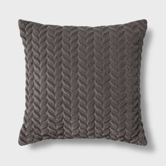 Decorative Square Throw Pillow Gray - Threshold™