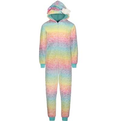 Sleep On It Girls Zip-Up Rainbow Onesie
