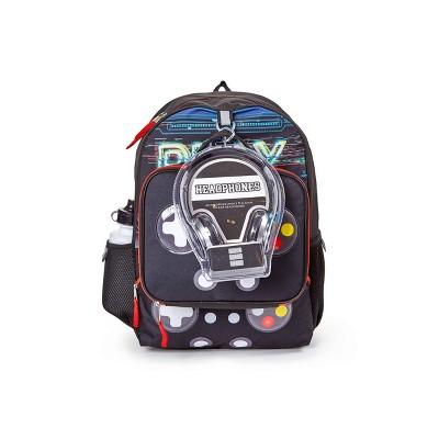 L2D 16'' Kids' Backpack 5pc Value Set - Gamer