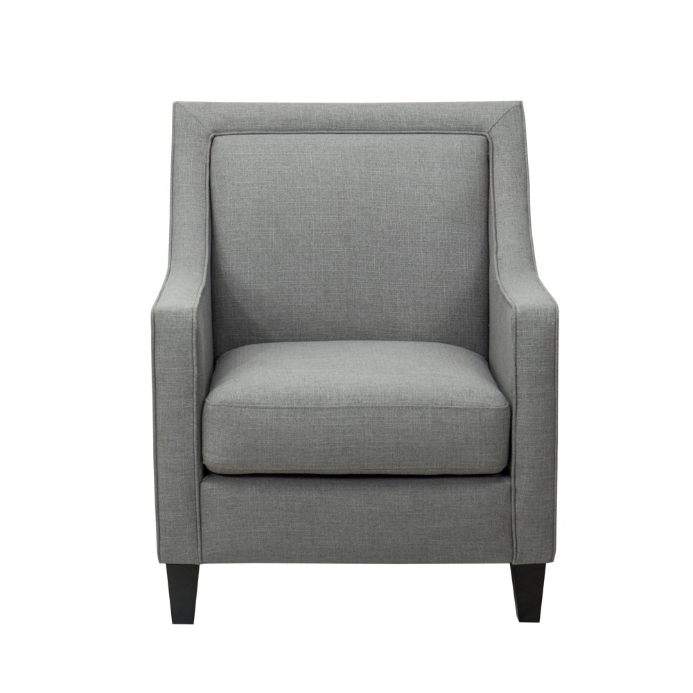 Harris Upholstered Chair with Piping Dark Gray - John Boyd Designs