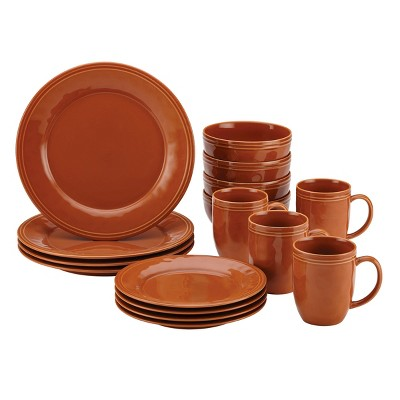 Rachael Ray 16pc Cucina Dinnerware Set Orange