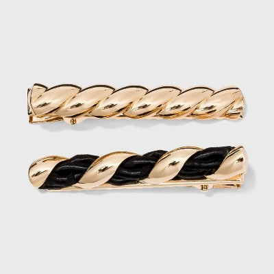 SUGARFIX by BaubleBar Croissant Hair Clip Set - Black