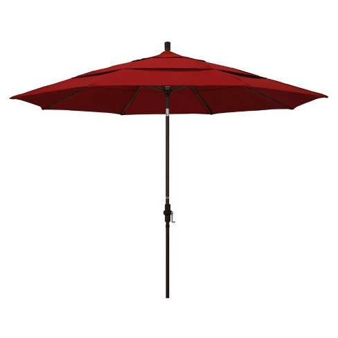 11' Patio Umbrella in Jockey Red - California Umbrella - image 1 of 2