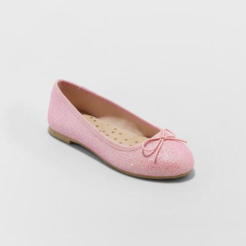 9008b18db9df2 Girls  Lesley Glitter Ballet Flats - Cat   Jack™ Pink   Target