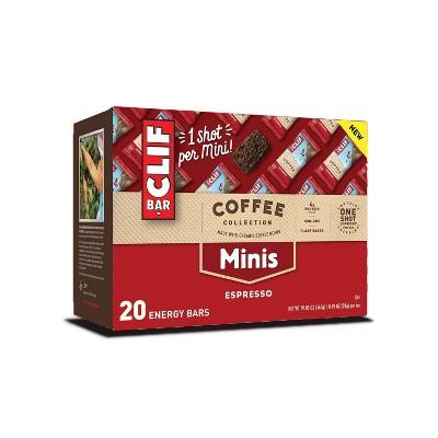CLIF Bar Coffee Collection Espresso Energy Bar Minis - 19.8OZ/20ct