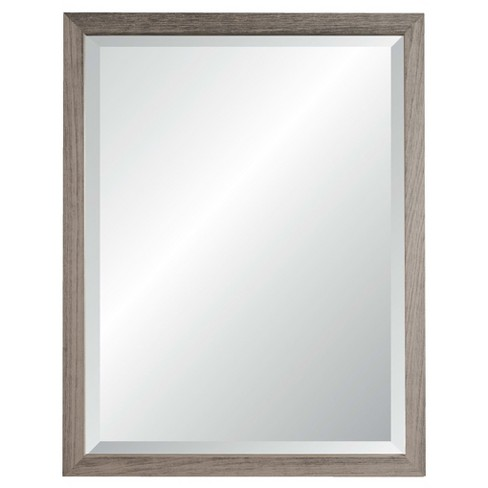 "Alpine Nantucket Beveled Glass Wall Mirror Grey 27"" X 33"") - image 1 of 3"
