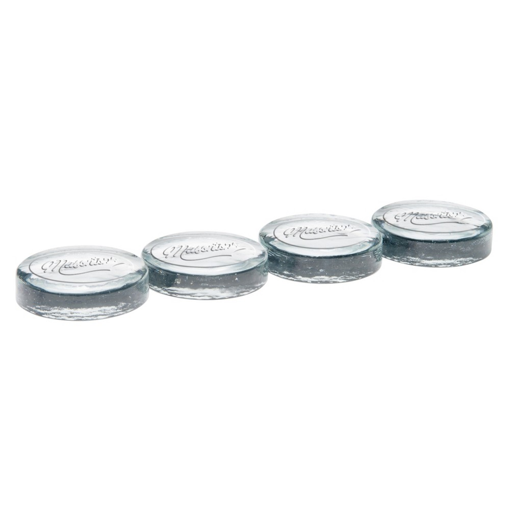 Image of Masontops Wide Mouth Set of 4 Pickle Pebble Mason Jar Fermentation Weights, Clear