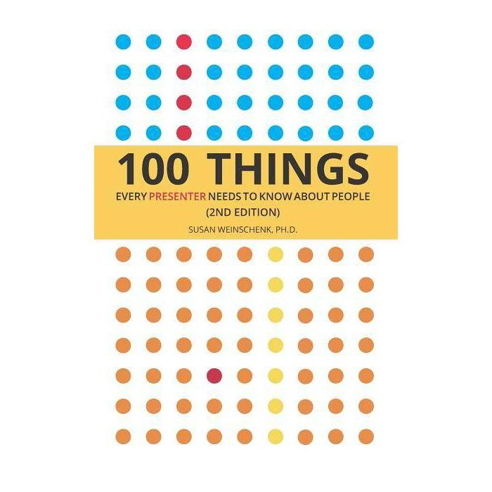100 Things Every Presenter Needs To Know About People - by  Susan Weinschenk Ph D (Paperback) - image 1 of 1