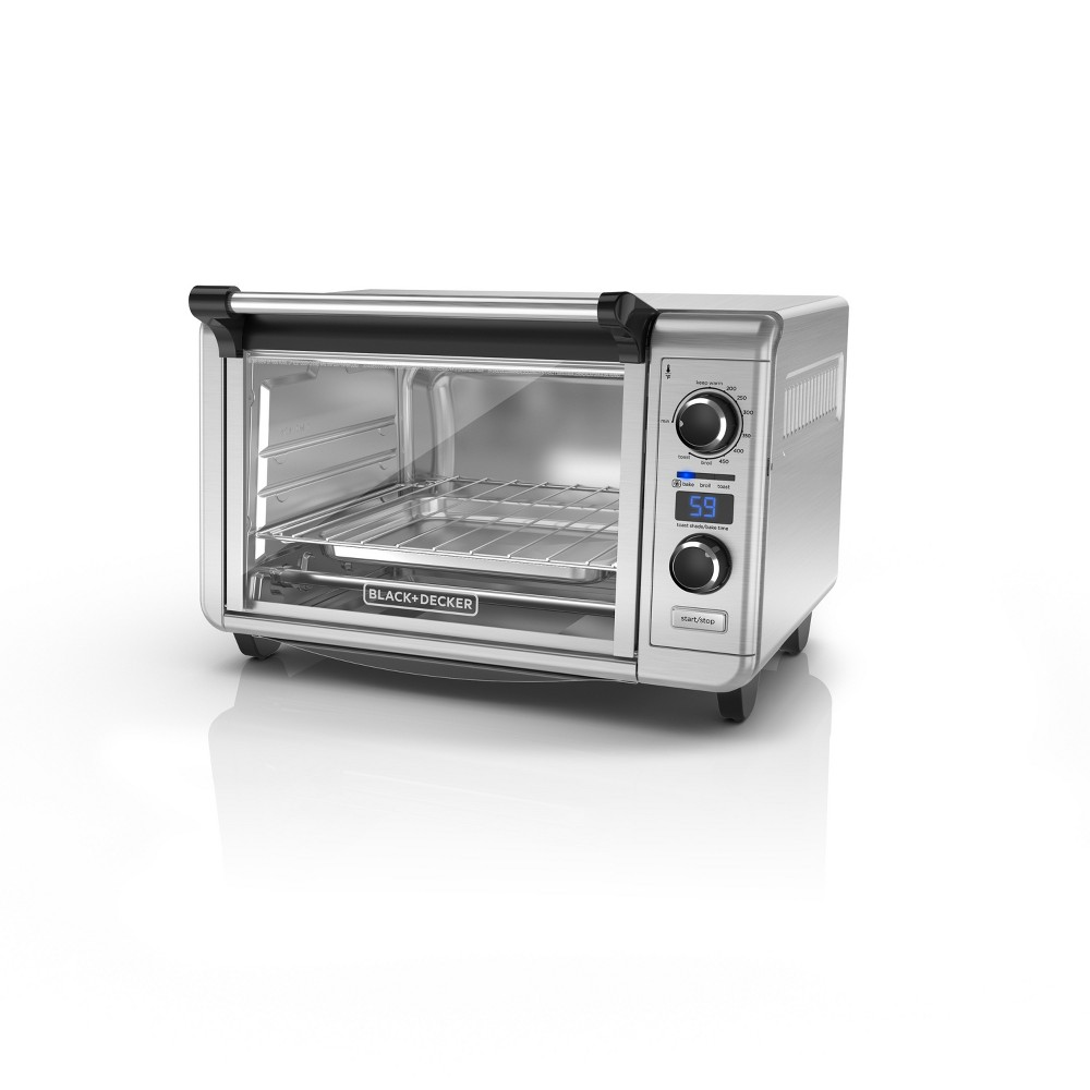 Black+decker 6-Slice Digital Convection Countertop Oven - Stainless Steel (Silver) TOD3300SS