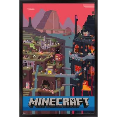 Minecraft - Cube Framed Poster Trends International
