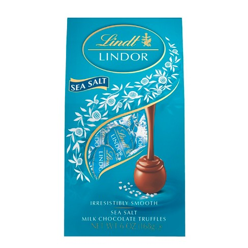 Lindt Lindor Sea Salt Milk Chocolate Truffles - 5.1oz - image 1 of 4