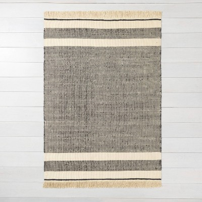 5'x7' Jute Rug Black - Hearth & Hand™ with Magnolia