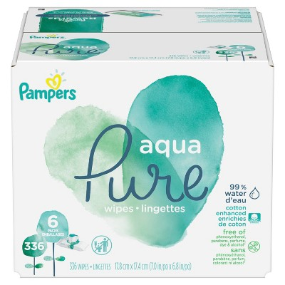 Pampers Aqua Pure Sensitive Baby Wipes Pop-Top - 336ct