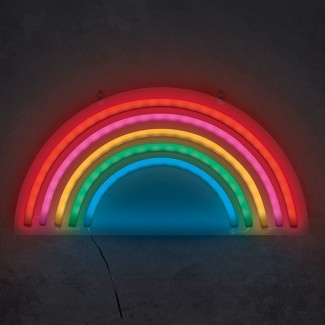 "Rainbow 15"" Neon Marquee Sign LED Lights - West & Arrow"