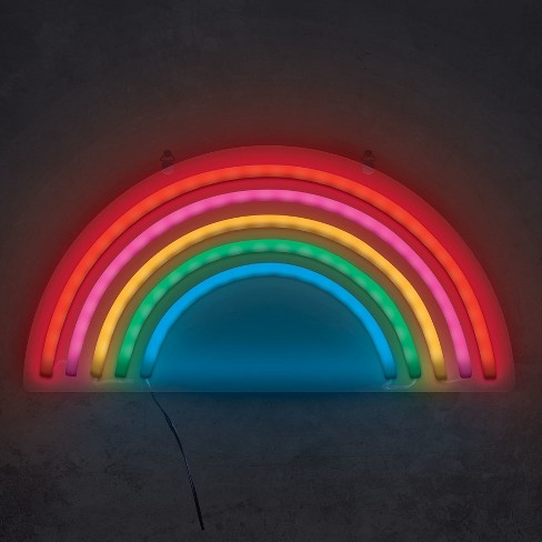 rainbow 15 neon marquee sign led lights west target