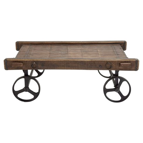 Simply Nostalgic Wood Metal Trolley Table - image 1 of 1
