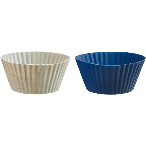 Trudeau 24ct Mini Muffin Cups Blueberry/Marble - image 1 of 2