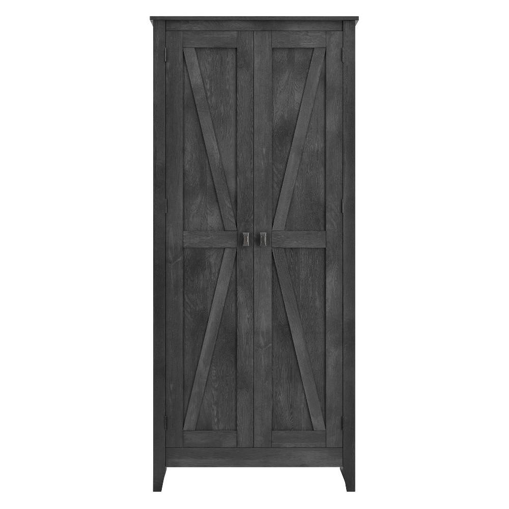 Brookside 31.5 Wide Storage Cabinet - Rustic Gray - Room & Joy, Dark Gray