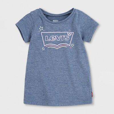 Levi's® Baby Girls' Graphic Short Sleeve T-Shirt - Navy Heather