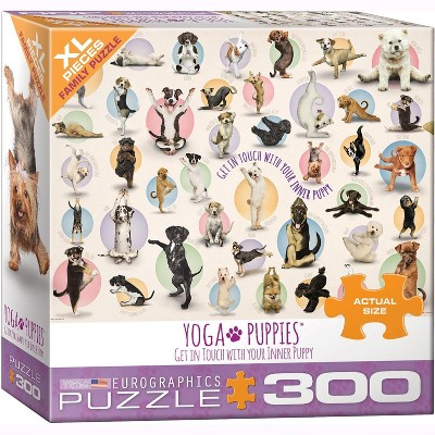 Eurographics Inc. Yoga Puppies 300 Piece XL Jigsaw Puzzle