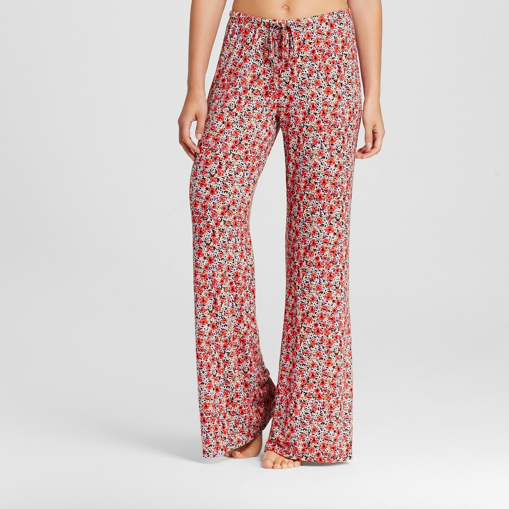 Women's Wide Leg Tall Pajama Pants Total Comfort - Red XL