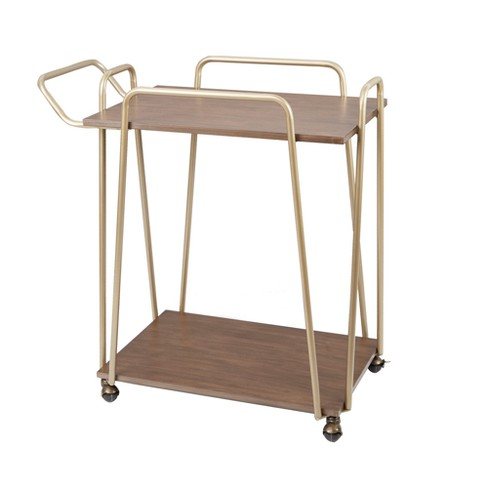 Silverwood Emory 2 - Tier Hairp Bar Cart Gold - image 1 of 3