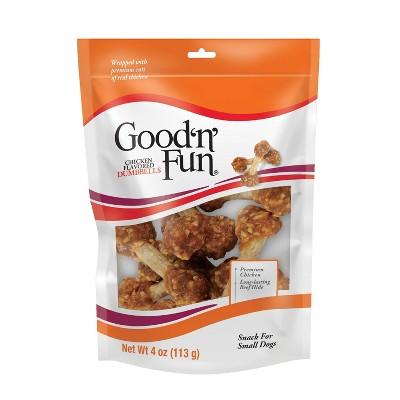 Good 'n' Fun Dumbbell Chicken Rawhide Dog Treats - 4oz