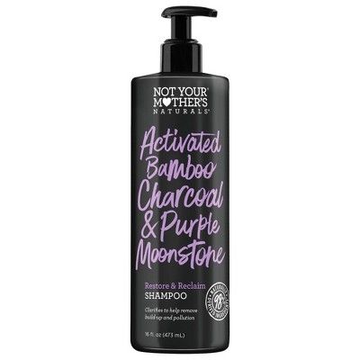 Not Your Mother's Naturals Activated Bamboo Charcoal & Purple Moonstone Restore & Reclaim Clarifying Shampoo - 16 fl oz