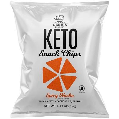 Genius Gourmet Spicy Nacho Chips - 4ct