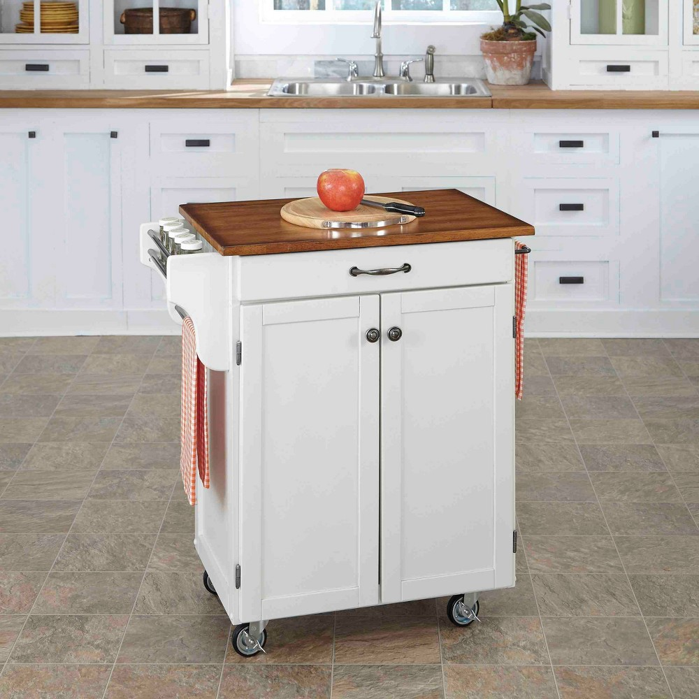 Kitchen Carts And Islands with Wood Top Oak Brown - Home Styles